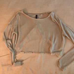 Cream colored cropped sweater